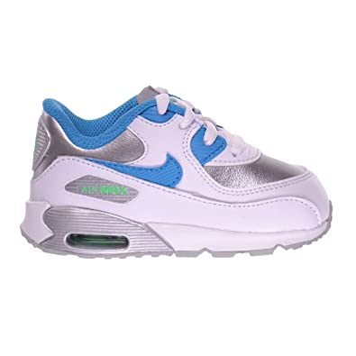 769e52c2f50a NIKE Air Max 90 LTR (TD) Infants Toddlers Baby Shoes White Blue Lagoon