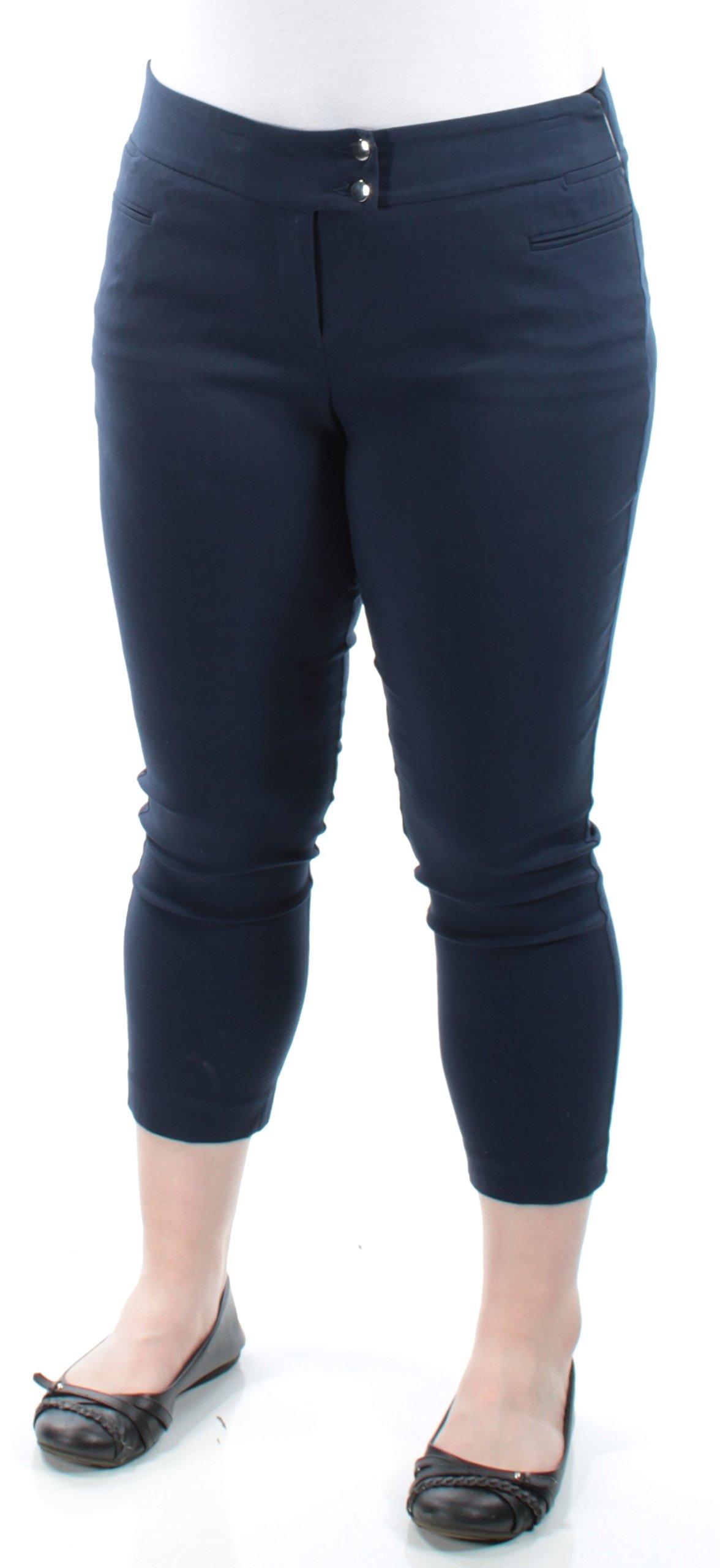 Style & Company $28 Womens 1404 Navy Comfort Waist Casual Pants Petites 14 B+B