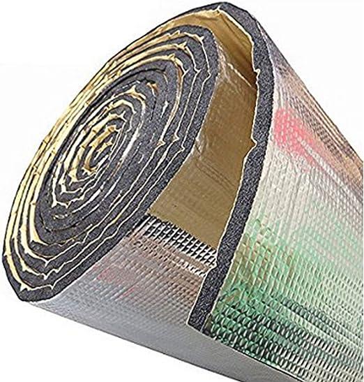 JIUY Car Heat Shield Isolation Acoustique Deadener Tapis Aluminium Foil Voiture Son Deadener Bruit Isolation Acoustique Dampening Mousse Argent