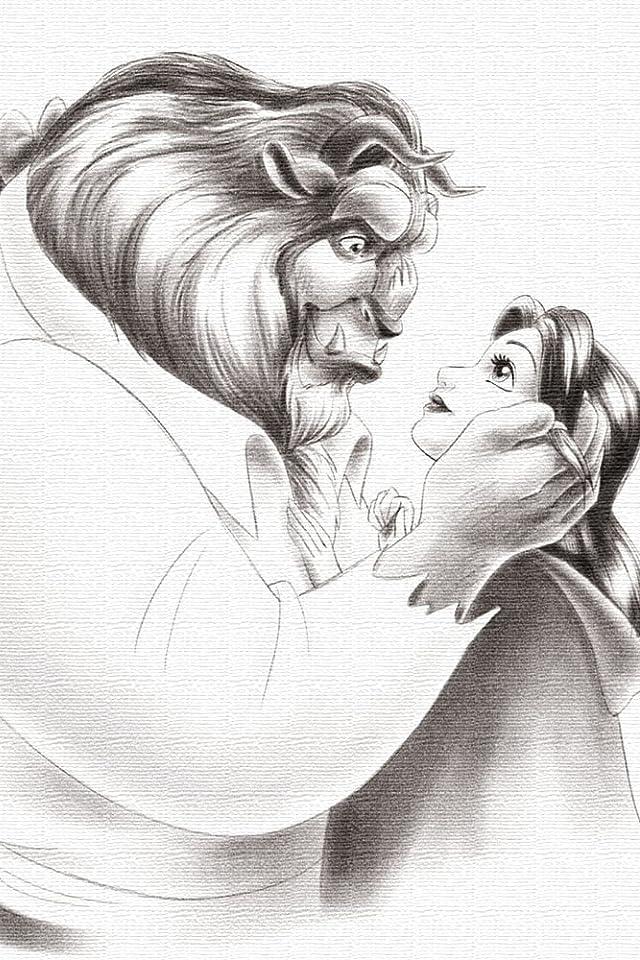 ディズニー 美女と野獣 iPhone(640×960)壁紙画像
