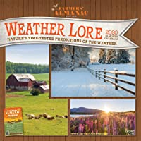 Image for Farmers' Almanac Weather Lore 2020 12 x 12 Inch Monthly Square Wall Calendar, Farm Gardening Health Organic