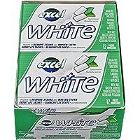 Excel White Sugar-Free Gum, Spearmint, 12 Count