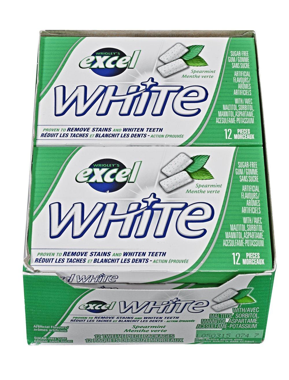 Excel White Sugar-Free Gum, Spearmint, 12 Count Wrigley Canada