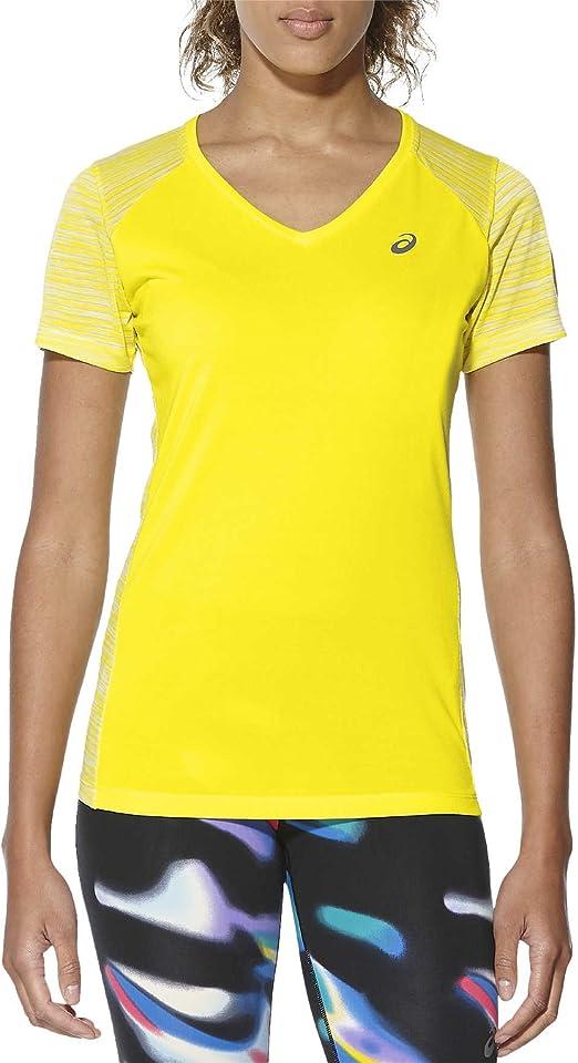 ASICS Fuzex V Neck Ss Kurzarm T Shirt für Damen