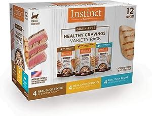 Instinct Healthy Cravings Grain-Free Cuts & Gravy Recipe in Savory Gravy Variety Pack Wet Cat Food, 3 oz., Count of 12