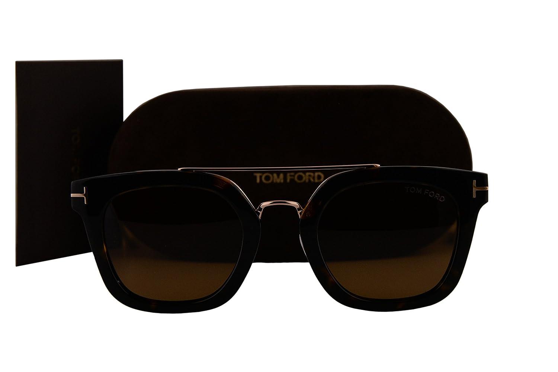 c29da2effc0 Tom Ford FT0541 Alex-02 Sunglasses Dark Havana Gold w Brown Lens 52E TF541   Amazon.co.uk  Clothing