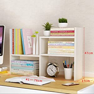 Adjustable Desktop Shelf,Expandable Multipurpose Free Style Rotation Display Desk Storage Organizer for Home Office-f 76x17x47cm(30x7x19inch)