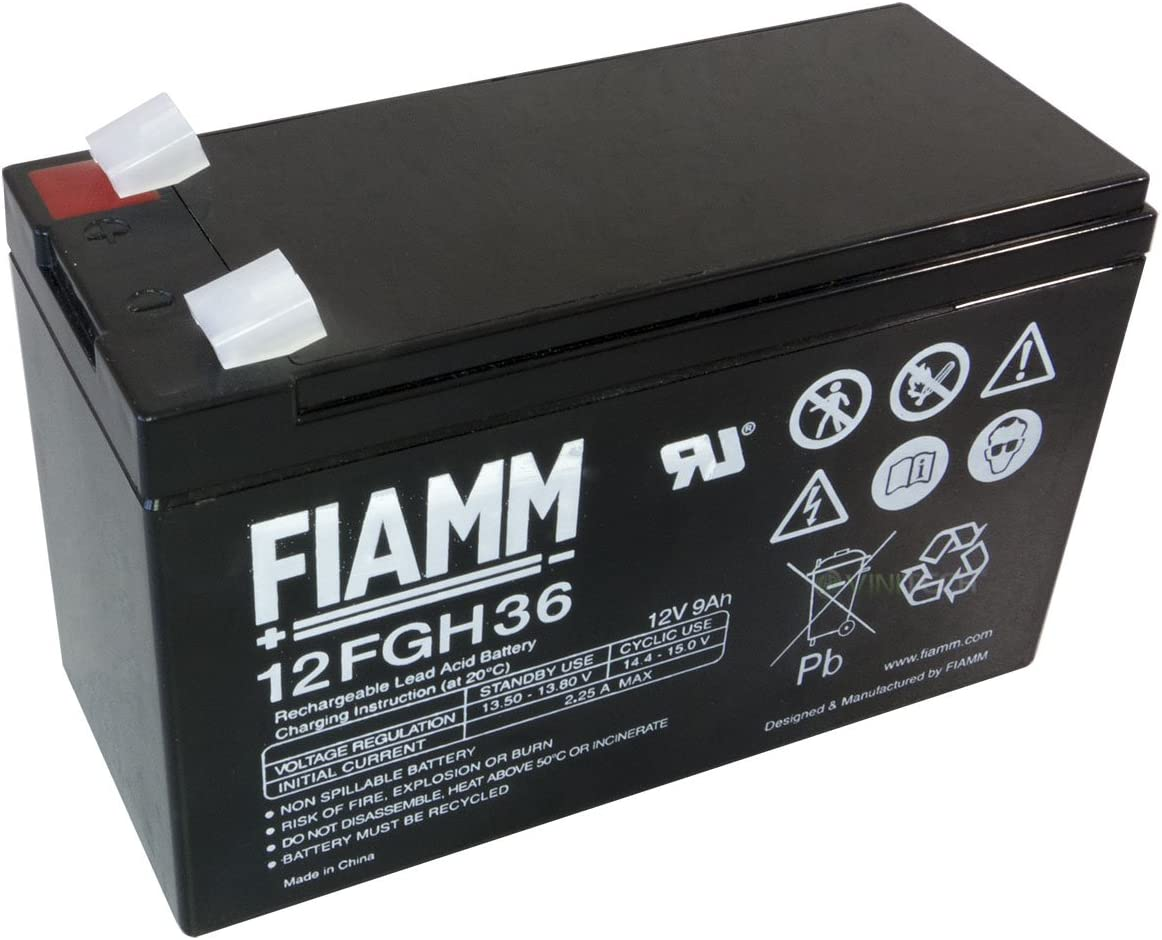 Batteria FIAMM sostituzione FGH20902 12 V 9 99 Ah Bleigel Batteria al Piombo 12FGH36