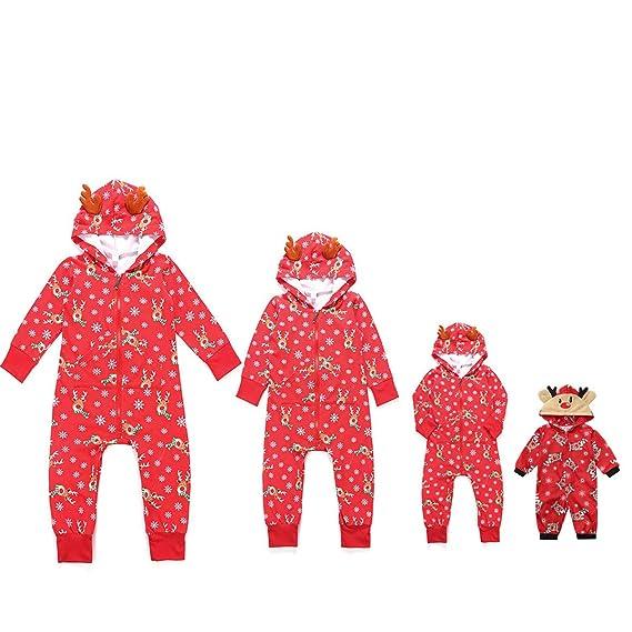 BaZhaHei Navidad Renos Mameluco con Capucha Mono Pijamas ...