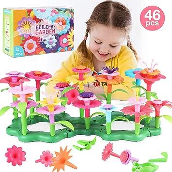 MEckily Flower Building Toy Set, Juego de Juego con Bloques de jardín para niñas y niños: Amazon.es: Juguetes y juegos