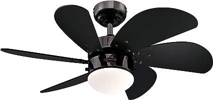 Westinghouse Lighting Turbo Swirl Ventilador de Techo, Acabado en gun metal con aspas negras: Amazon.es: Iluminación