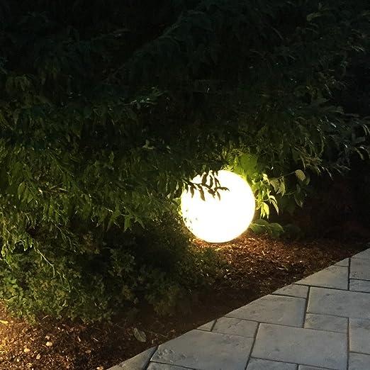 s.LUCE Hänge-Globe Kugellampe mit 5 Meter Kabel Ø 30cm Garten Kugelleuchte