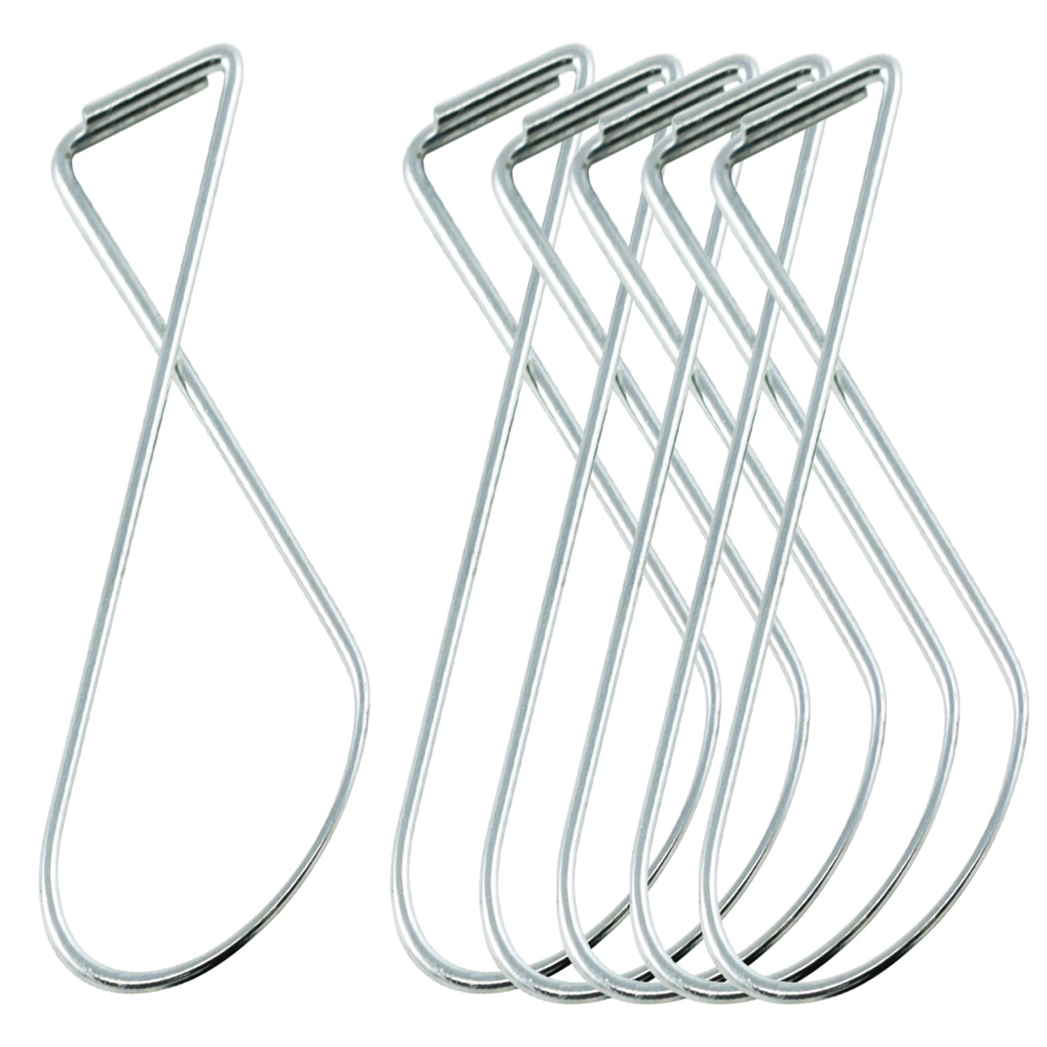 Houseables Ceiling Hook Clips, 100 Pack, 2.5'', 10 lb Support, Wire, Grid Hanger, Figure 8, Hanging T-Bar Squeeze Clips, For Classroom/Teacher/Office Organization/Signs/Decorations/Supplies/Graphics
