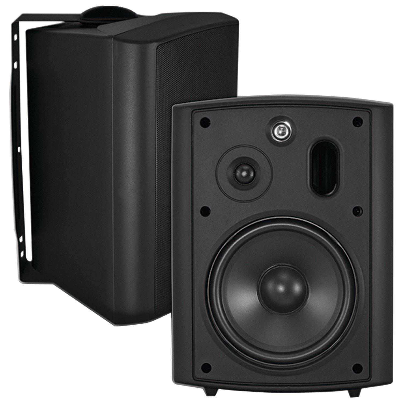 OSD Audio AP640 Weather Resistant Indoor/Outdoor Patio Speaker - Pair (Black) AP640 Black
