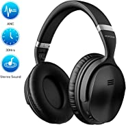 Mpow H5 [Upgrade] Active Noise Cancelling Headphones, 30Hrs Playtime (ANC) Bluetooth Headphones Over Ear, Superior Deep Bass