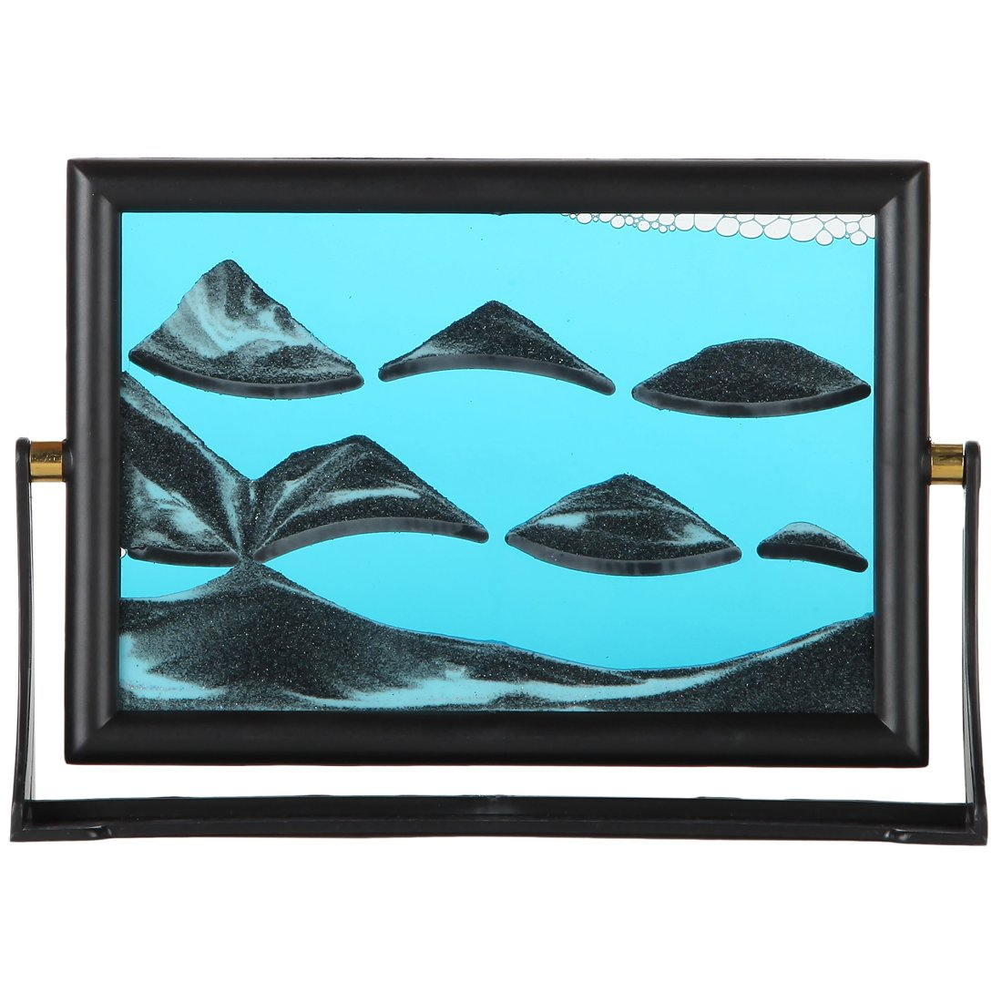 Lily's Home Moving Sand Picture. 7 X 5 Inch Frame. Blue 6