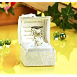 Glass Owl Graduation with Poem, Gift Boxed by PGW