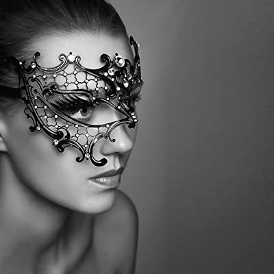 Masquerade Mask Filligree Party Glitter Ball Accessories Unisex 6 Colours