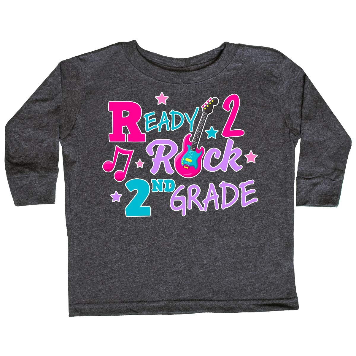 inktastic Back to School Ready 2 Rock 2nd Grade Toddler Long Sleeve T-Shirt