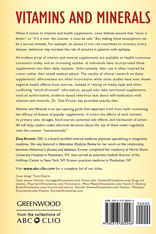 Vitamins and Minerals: Amazon.es: Zina Kroner: Libros en idiomas ...