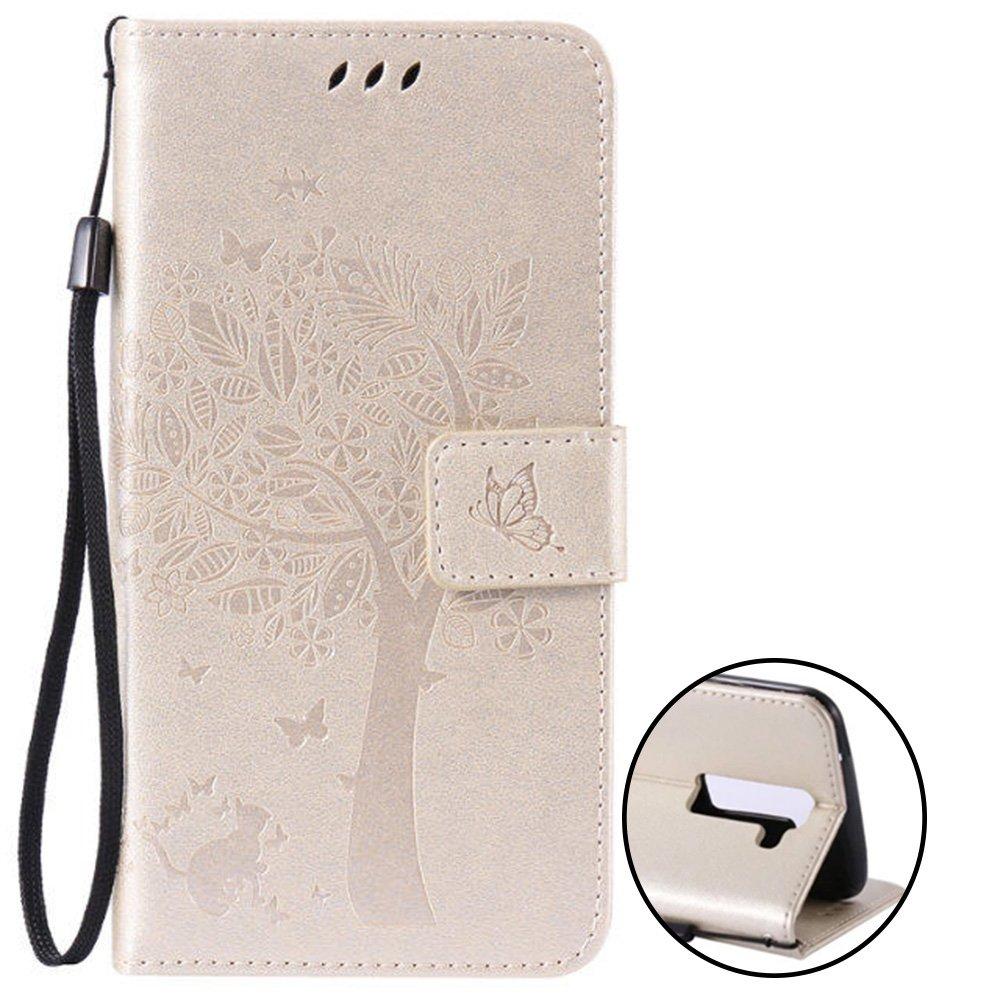 Nnopbeclik Coque LG K8 New Mode Fine Folio Wallet Portefeuille en Bonne  Qualité PU Cuir 6862b6d5dff
