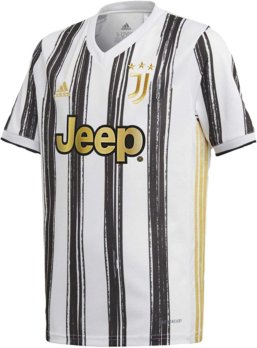 amazon com adidas juventus youth home soccer jersey 2020 21 clothing amazon com adidas juventus youth home