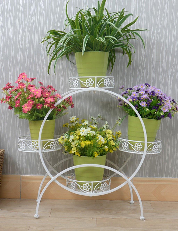 lb kreative eisen blumenregal mehrschichtige blumenregal balkon boden pflanzer regal regale. Black Bedroom Furniture Sets. Home Design Ideas