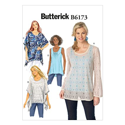 Amazon com: BUTTERICK PATTERNS B6173E50 Misses' Tunic Sewing