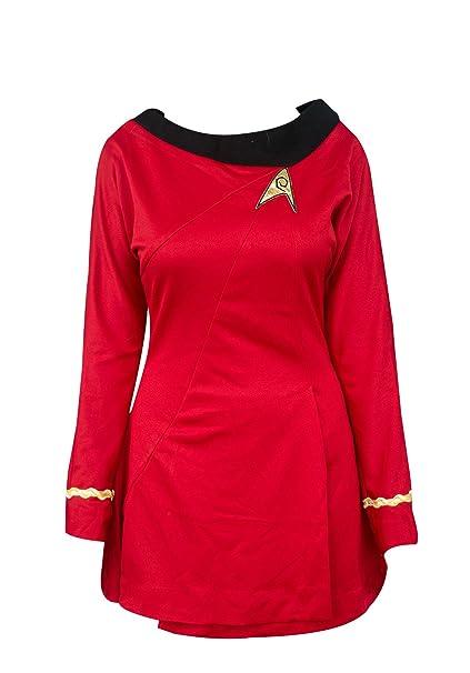 Amazon.com: Star Trek Uhura traje de cosplay uniforme de ...