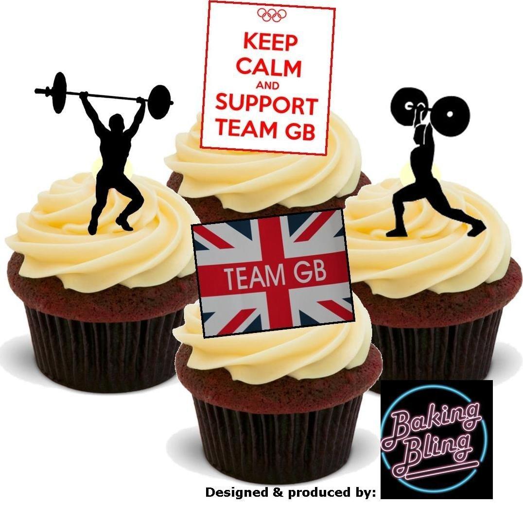 Amazon.com: 12 x Olympics WEIGHT LIFTING Support TEAM GB Sports Mix ...