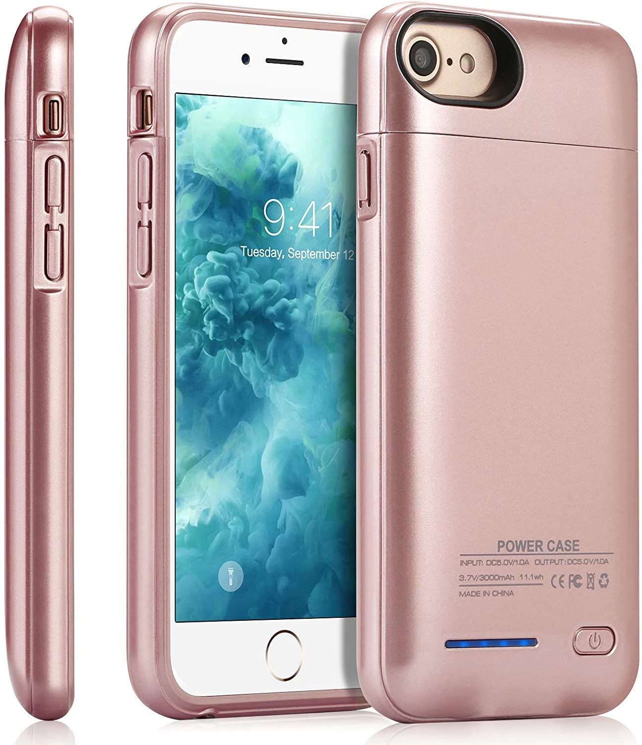 Battery Case for iPhone 6/6s/7/8/(SE 2020),JUBOTY 3000mAh Magnetic Battery Charging Case Slim Portable Rechargeable Charger Case for iPhone 6/6s/7/8