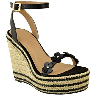 eb0e81a7a119a Fashion Thirsty Womens Ladies Summer Wedge Low High Heel Sandals Platform  Espadrilles Floral New