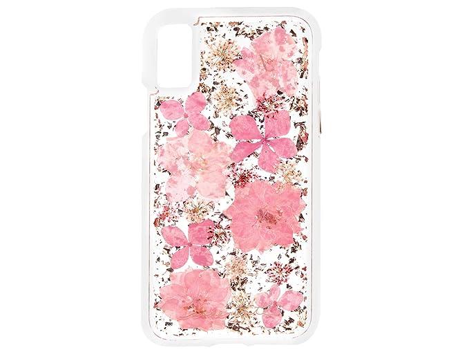 huge discount e1e67 b1e93 Case-Mate Protective Case Compatible with iPhone X Pink Karat Petals Case