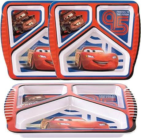 Zak (3 Pack) Disney Pixar Cars Character plástico 3 secciones ...