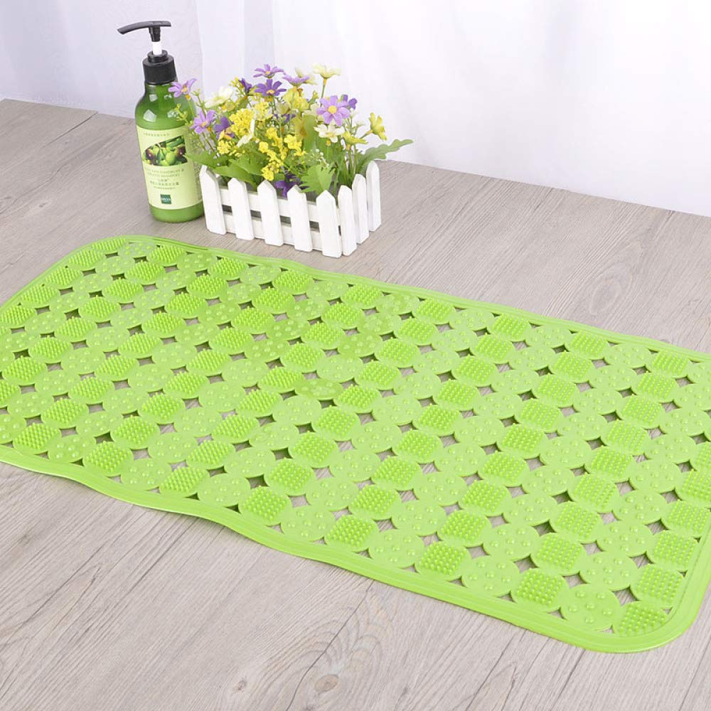 PLLP Bathroom Mat, Stylish and Tasteless Environmental Protection PVC Mat, Bathroom Mat, Bath Massage Massage Hollow Mat,Green,7036cm