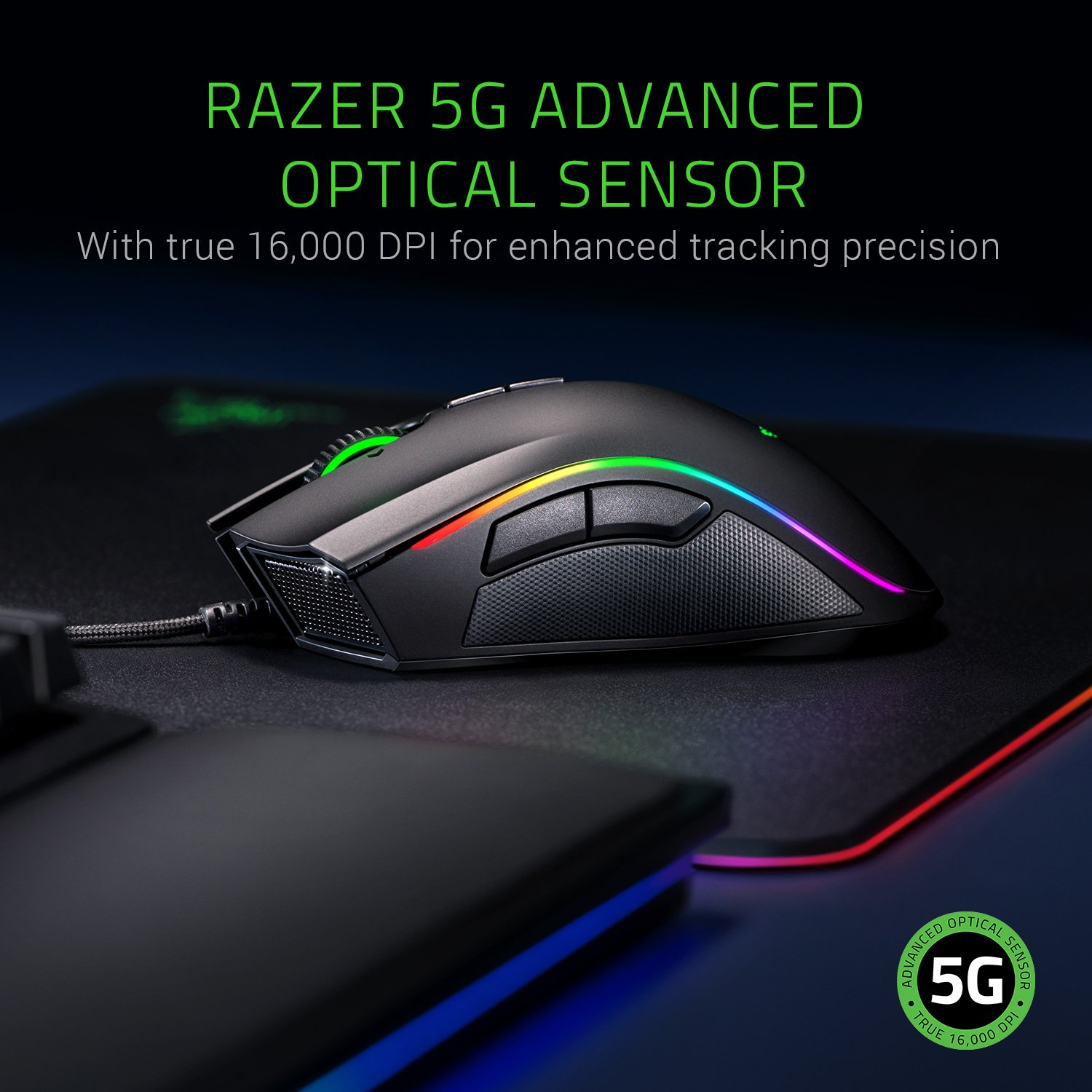 49b595156c0 Razer Mamba Elite: 5G True 16,000 DPI Optical Sensor - 9 Programmable  Buttons - Ergonomic Form Factory - Razer Chroma Enabled - Esports Gaming  Mouse, ...
