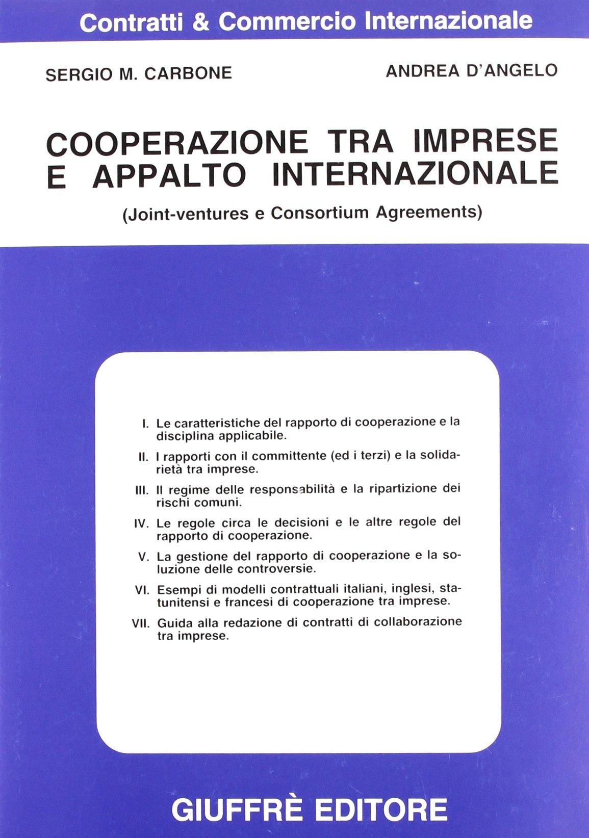 Cooperazione Tra Imprese E Appalto Internazionale Joint Ventures E