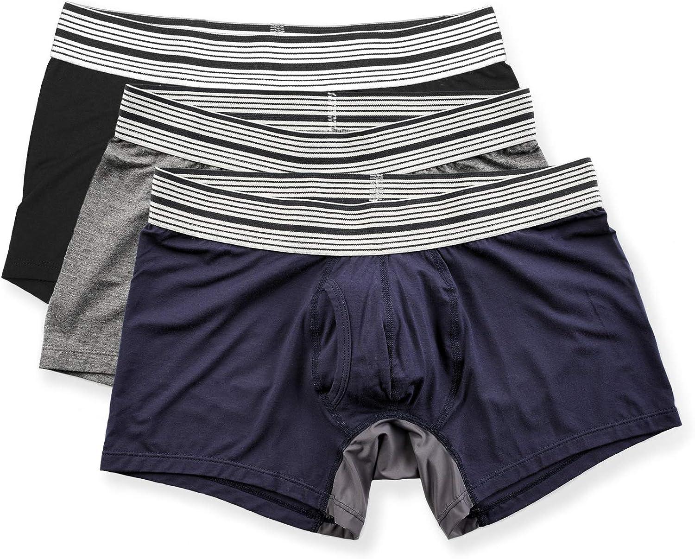 Mr. Davis Men's Trunks Cut Boxer Brief Underwear - 3 Pack