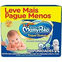 Toalhas Umedecidas MamyPoko Toque Suave, 200 unidades