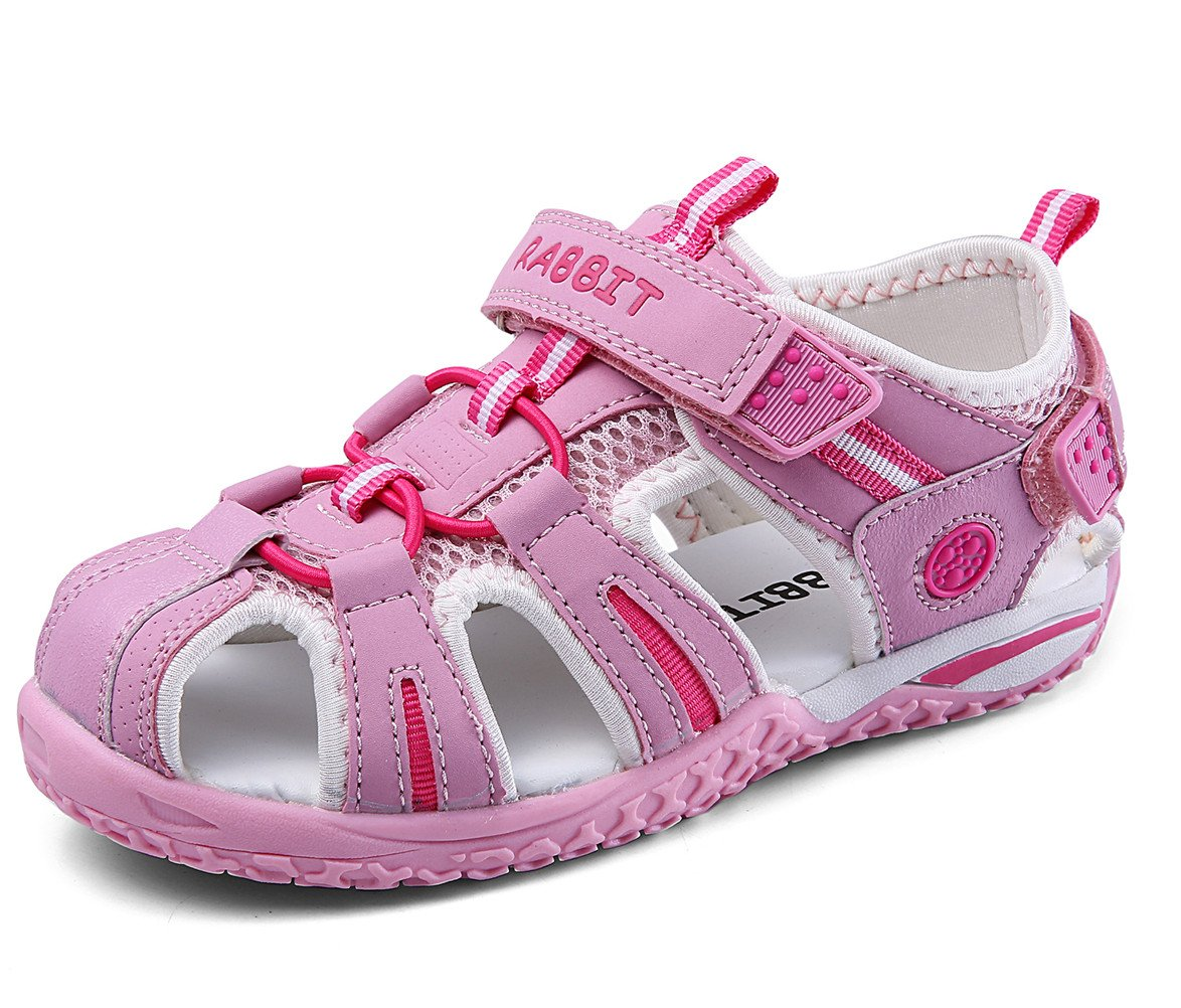 ceb3e9499 Galleon - DADAWEN Boy s Girl s Summer Beach Outdoor Closed-Toe Sport Sandals  (Toddler Little Kid Big Kid) Light Pink US Size 9.5 M Toddler