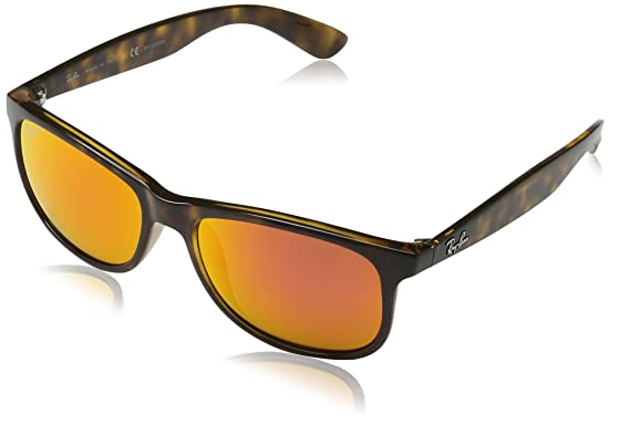 f7e1ea2771 Image Unavailable. Image not available for. Color  Ray-Ban Andy - Shiny  Havana Frame Polar Orange Flash ...