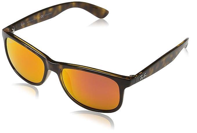 RAYBAN Andy, Gafas de Sol para Hombre, Shiny Havana, 55: Amazon.es: Ropa y accesorios