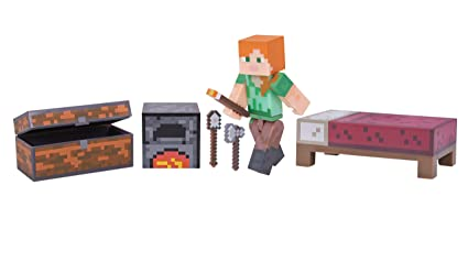 amazon com minecraft alex survival pack toys games
