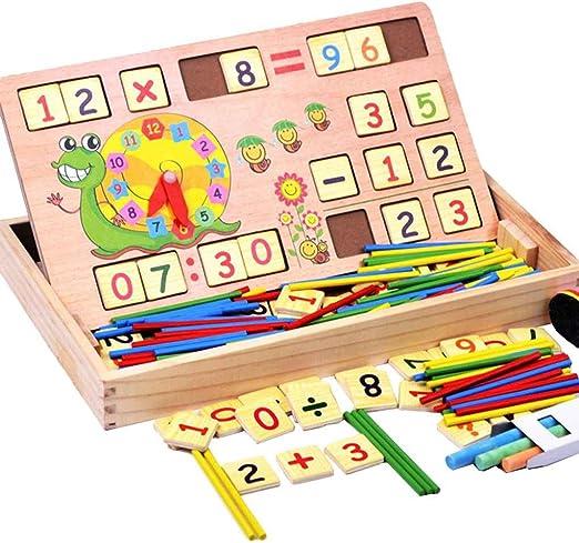 heacker Matemáticas Madera palillo Puzzle Educación Número Juguetes Calcular Contar Juego de Aprendizaje para niños Juguetes para bebés: Amazon.es: Hogar
