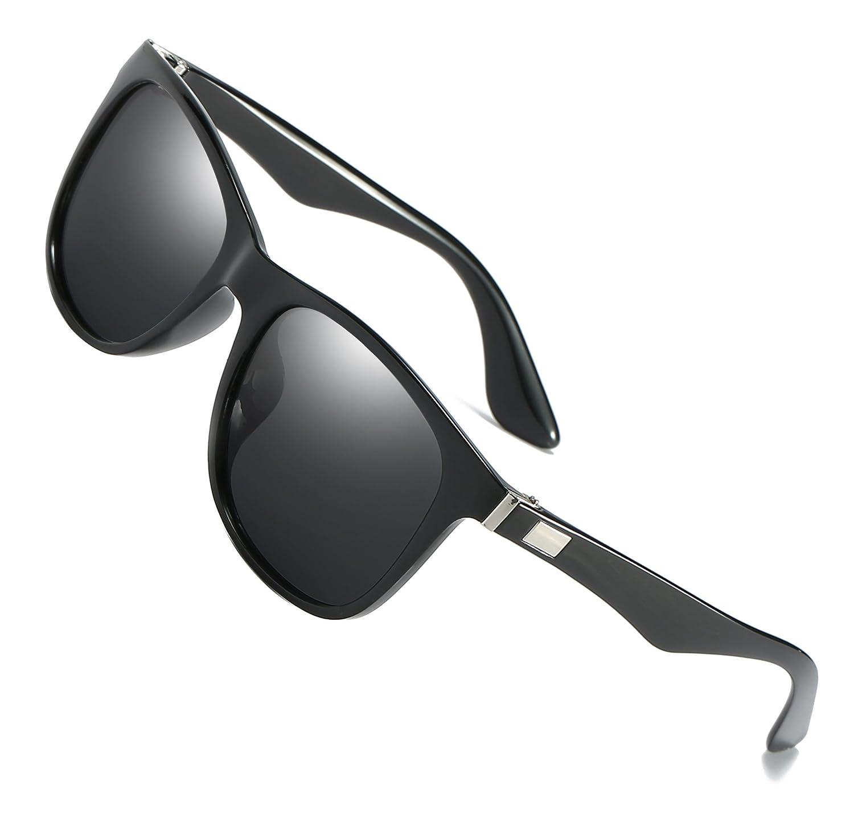 f1a9d0c2cfc HatPanda Polarised Sunglasses Driving Sport Retro Sunglasses For men women  Full UV400 Protection (A Clear Black)  Amazon.co.uk  Clothing