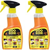 Goo Gone Spray Gel - 12 Ounce 2 Pack - Sticker and Adhesive Remover For Gum Crayon Adhesive Residue Glue