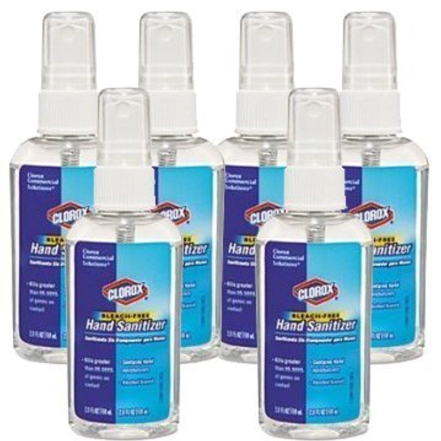 Clorox CLO 02174 Bleach-Free Hand Sanitizer, 2.0 FL OZ, (6-Pack), Contains Hand Moisturizers, Alcohol-Based