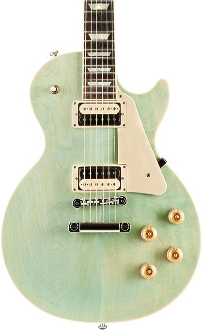 2017 Gibson Les Paul - Guitarra eléctrica verde de espuma de mar: Amazon.es: Instrumentos musicales