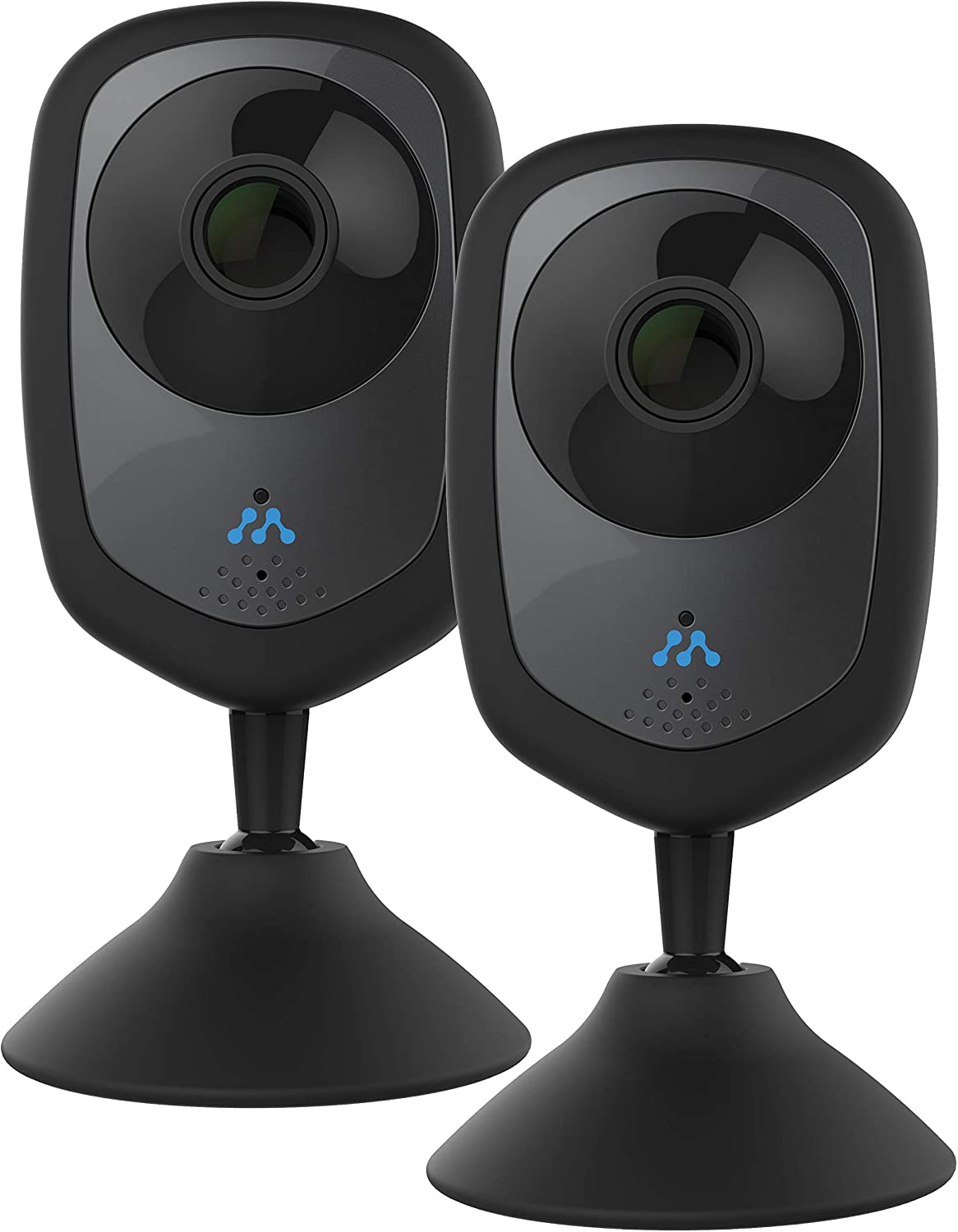 Momentum HD Wireless Indoor Home Security Camera with 2-Way Audio, Night Vision, Pet Monitor for iOS & Android (2 Pack)