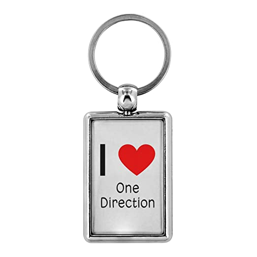 "Amazon com: I Love One Direction Keychain Keyring: 1 25"" x 3"